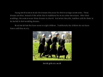 All about the Amish Powerpoint