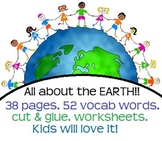 All about the Earth! Landforms & bodies of water! Activities and Worksheets!