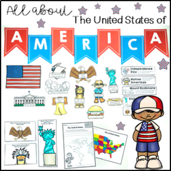 All About the United States Activity Pack maps, spinner, f