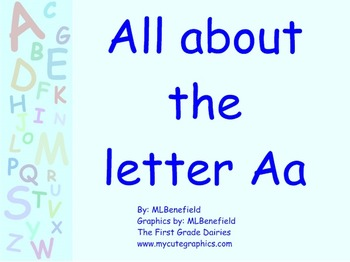 All about the letter Aa smartboard