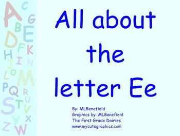 All about the letter Ee smartboard