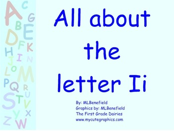All about the letter Ii smartboard