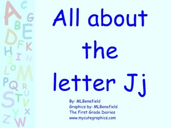 All about the letter Jj smartboard