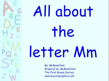 All about the letter Mm smartboard