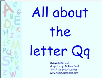 All about the letter Qq smartboard