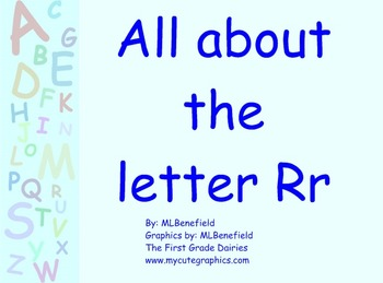 All about the letter Rr smartboard