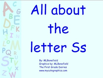 All about the letter Ss smartboard