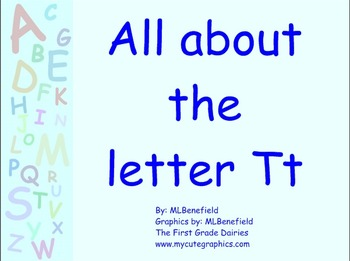 All about the letter Tt smartboard