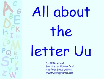 All about the letter Uu smartboard