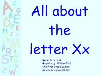 All about the letter Xx smartboard