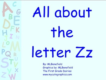 All about the letter Zz smartboard