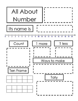 All about the number math activity 1-20