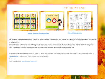 All about time and clocks - Interactive Presentation (fall edition)