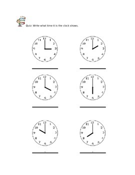 All about time workbook for 2nd Grade