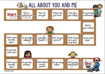 ESL NEWCOMER GAME: All about you and me