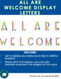 All are Welcome display letters