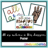 All are welcome in this classroom poster