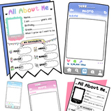 All about me! with IG interface-First day of school activi