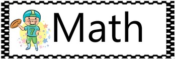 All common core standards for third grade - ELA and MATH - Sports