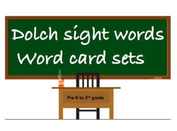 All dolch sight word flash cards: pre-primer, 1st grade, 2nd grade, 3rd grade