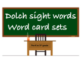 All dolch sight word flash cards: pre-primer, 1st grade, 2
