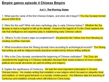 All episodes Empire Games Netflix video guides with Keys