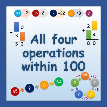 All four operations within 100