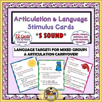 Articulation and Language Stimulus Cards - S Sound