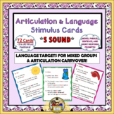 Articulation and Language Stimulus Cards - S Sound