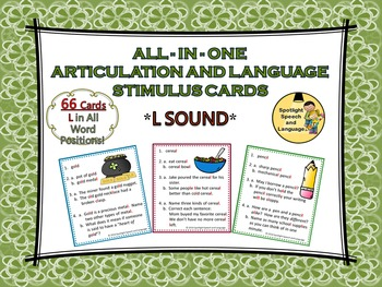All-in-One Articulation and Language Stimulus Cards - L Sound