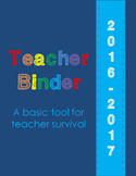 All-in-One Basic Blue Teacher Binder