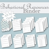 All in One Behavioral Resources Binder