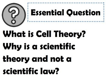 Cells: Goals & Scales, Essential Questions & Vocab