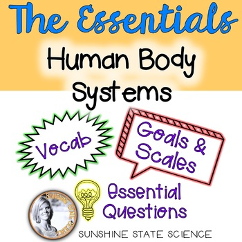 Human Body Systems: Goals & Scales, Essential Questions & Vocab