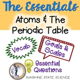 Atoms & The Periodic Table: Goals & Scales, Essential Ques