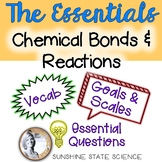 Chemical Bonds & Reactions: Goals & Scales, Essential Questions & Vocabulary