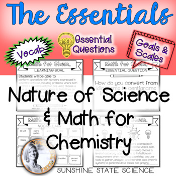 Nature of Science: Goals & Scales, Essential Questions & Vocabulary