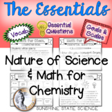 Intro to Chemistry Goals & Scales, Essential Questions & Vocab