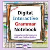 Digital Interactive Grammar Notebook   Over 120 Digital Ac