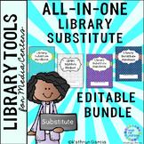 All-in-One Editable Library Substitute Planner Handbook BUNDLE