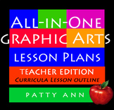 Graphic Arts Design Lesson Plans All-in-One Complete Curricula Outline-Book Only
