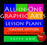 Graphic Arts Design Lessons Bundled All-in-One Curricula Book + 4 Slideshows!