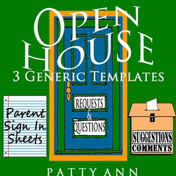 Open House Sign In Sheets 3 Editable Word Doc Templates Simple Easy