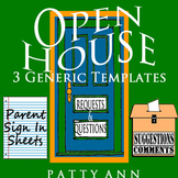 Open House Sign In Sheets > 3 EDITABLE Word Templates ~ Si