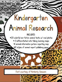 All-in-One Kindergarten Animal Research! (w/ 20 colorful n