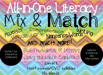 Easy Prep All-in-One Literacy Mix & Match: Level 1 Set 1