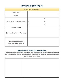 Middle School Literature Circle Packet: Materials & Rubric!