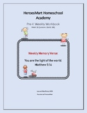 All-in-One Pre-K Lesson 16 Workbook_Bible-based