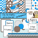 All-in-One Set: Oh So Puffy 11 {Digital Papers, Frames, Pa