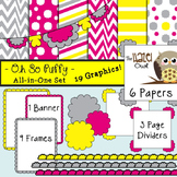 All-in-One Set: Oh So Puffy 2 {Digital Papers, Frames, Pag